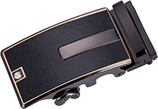 Barry.Wang Men Ratchet Buckle or Strap Only Genuine Leather Belt Replacement Nickel Free Buckle Adjustable