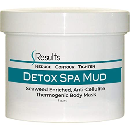 Spa Mud (Seaweed) Body Wrap Detox & Anti-cellulite Slimming Formula - large jar for multiple treatments