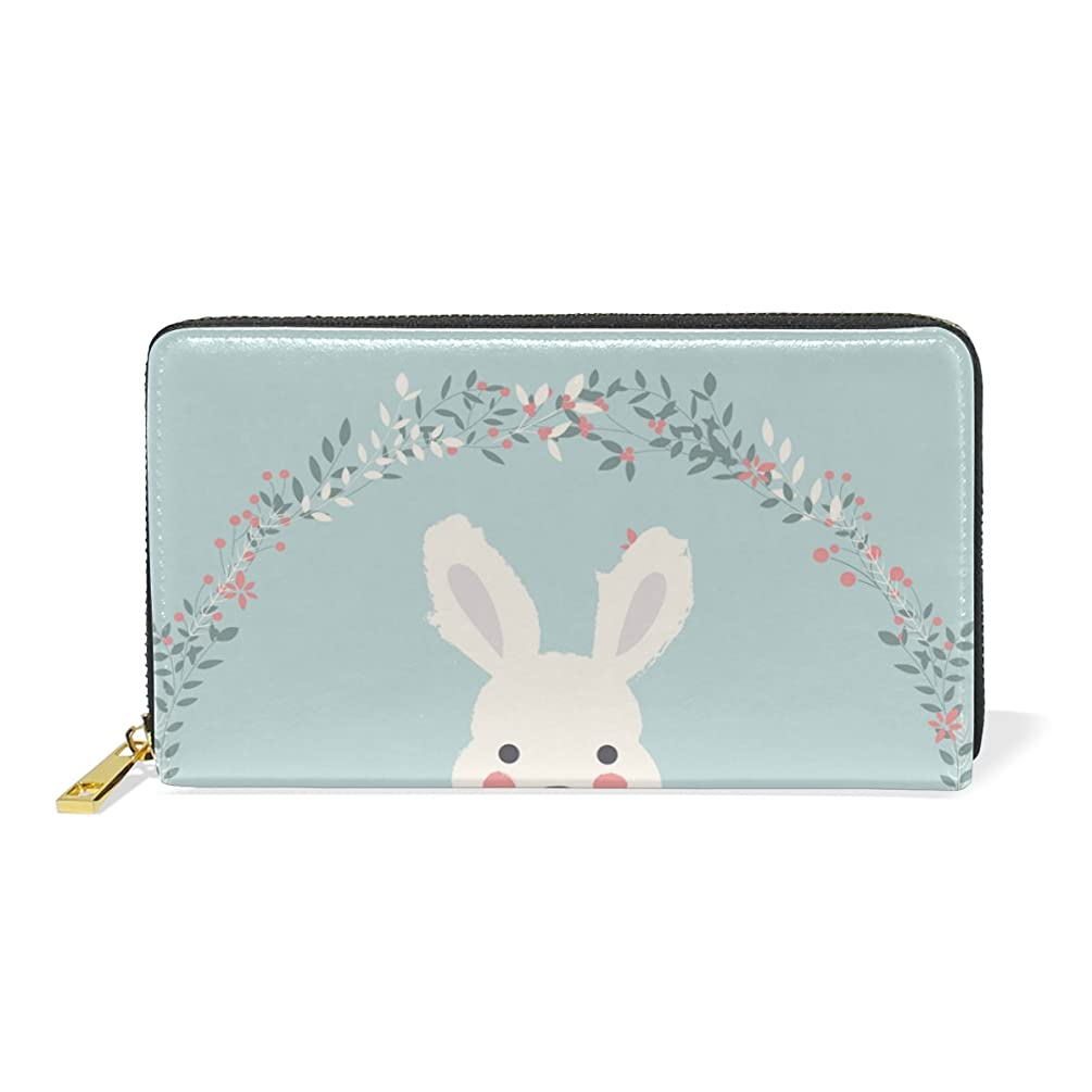 アナニバー説教キャベツAyuStyle レディース メンズ 長財布 二つ折り 財布 ラウンドファスナー ウォレット かわいい バニー ウサギちゃん うさぎ rabbit カード入れ 現金入れ 大容量