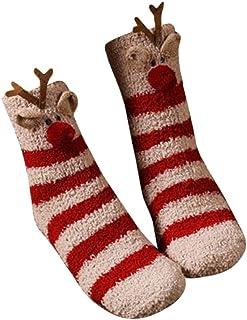 Calcetines Mujer,calcetines unisex de raya, suaves, mullidos, acogedores calcetines de felpa, cálidos para dormir en invierno para mujeres