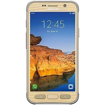 Samsung Galaxy S7 active SM-G891A 32GB AT&T Locked - Sandy Gold (Renewed)
