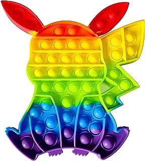 Fidget Toy Jouets Sensoriels Stress Relief Anti-Stress Push Pop Bubble pour Enfants et Adultes la Concentration Le Calme D...