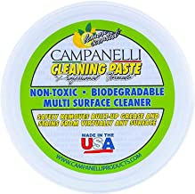 Campanelli's Cleaning Paste [One 12oz Tub] Professional Formula Multi-Surface Cleaner - Non-Toxic, Non-Hazardous, & Non-Fuming! NO Bleach or Solvents, NO residue, & Environmentally Safe! (1)