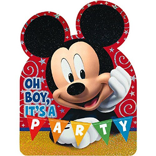 Disney Mickey Mouse Postcard Invitations   Pack of 8   Party Supply