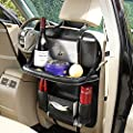 2 Pack Car Back Seat Organizer, Foldable Car Dining Table Holder Bottles Holder Multifunctional Back Seat Protector Universal Use as Car Backseat Organizer for Kids