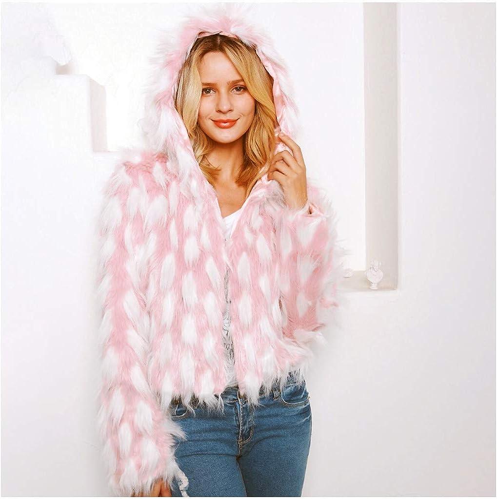 OIKAY Winterweste Jacke Damen Pullover Kunstpelz weichen Pelz Mantel Jacke Flauschige Oberbekleidung Yb Rosa