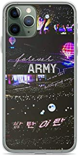 TEEMT Compatible with iPhone 11 Pro Max Case BTS Lightstick Ocean Concert Army Bomb Kpop Fan Pure Clear Phone Cases Cover