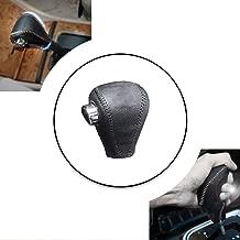 Non-slip Black Genuine Leather Gear Shift Knob Cover For Honda Shift Lever Protector Trim Black Thread I Type