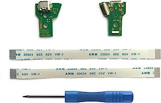 2PCs JDS-040 Replacement Placa Controlador Conectores de Carga Micro USB para Mando PS4, Tarjeta Micro del Cargador de Bat...