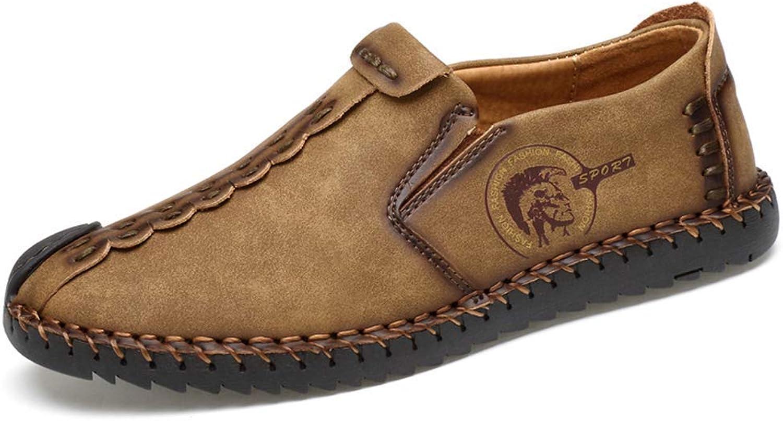 HhGold Mens Casual Schuh Lace-Up Männer Müßiggänger Mokassins Mokassins Mokassins Slip On Schuhe Stiefel Wohnungen Schuhe Oxford Turnschuhe Männlich (Farbe   602khaki, Größe   10 UK)  854d78