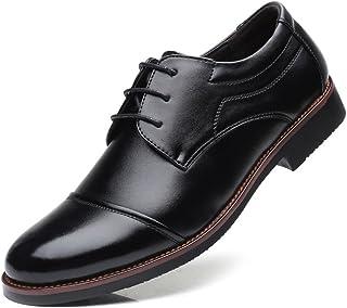 Men's Tuxedo Dress Shoes Matte PU Leather Lace Up Breathable Lined Business Oxfords`` Khouses (Color : Black, Size : 43 EU)