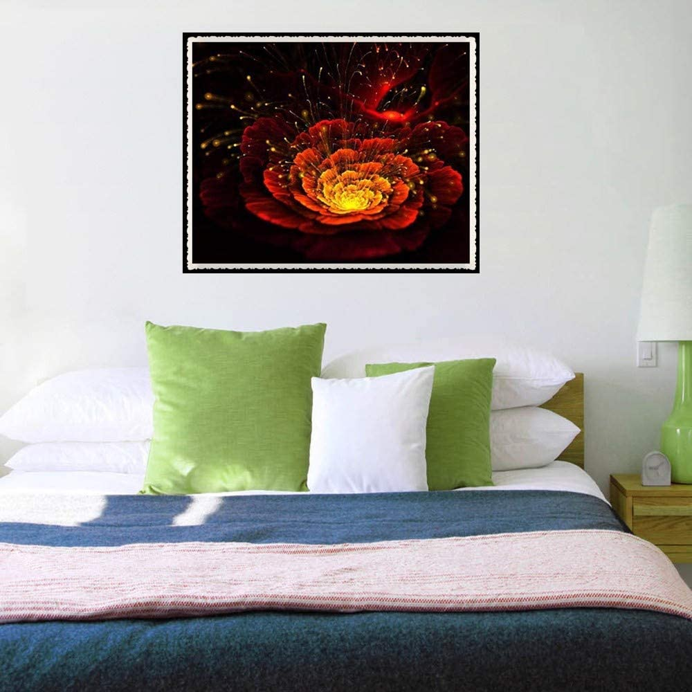 A, 3025cm 5D DIY Diamond Paintings Cross Stitch Knitted Embroidery Kits Rhinestone Pasted Flowers Pattern Handmade Art Craft Realistic No Fade Livingroom Wall Sticker Decor Hanging Picture
