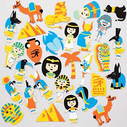 Baker Ross Pegatinas de Espuma Egipto Antiguo AT854 (paquete de 120) para proyectos de arte y manualidades para niños, surtidos