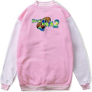 VJJ AIDEAR Space Jam 2 Baseball Uniform Jacket Sport Coat Boys' Long Sleeve Hoodie Sweatshirt Black