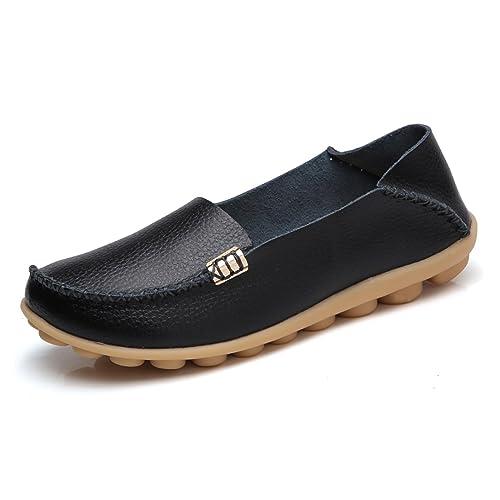 f599e6035ab VenusCelia Women s Natural Comfort Walking Flat Loafer