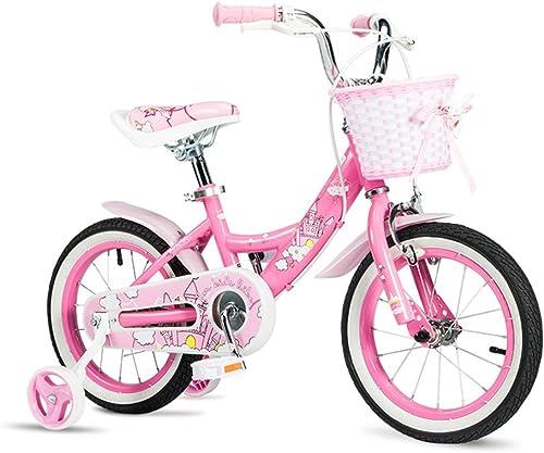 HAIZHEN Kinderwagen Kids Bike, Girl's Bikes mit Trainingsr rn, 12 Zoll, 14 Zoll, 16 Zoll, 18 Zoll, Geschenke für Kinder Für Neugeborene (Farbe   B, Größe   18 inch)