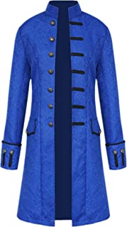 Men's Steampunk Vintage Tailcoat Jacket Gothic Victorian Frock Coat Uniform Halloween Costume