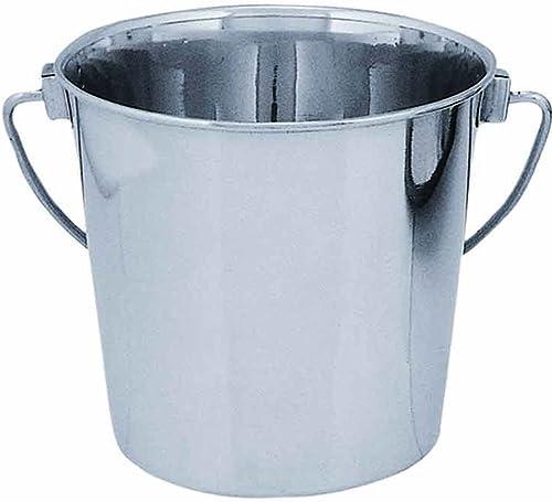 QT Dog Round Bucket Stainless Steel, 6-Quart