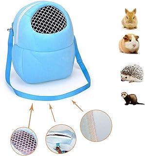 億騰 ペットカバン キャリーバッグ ハムスター 携帯包 栗鼠 ハムスター となりのトトロ 小型動物 アウトバッグ お出かけ 散歩 外出 おしゃれ 小型動物 旅行 持ち運び ペット用品 軽量 (ブルー)