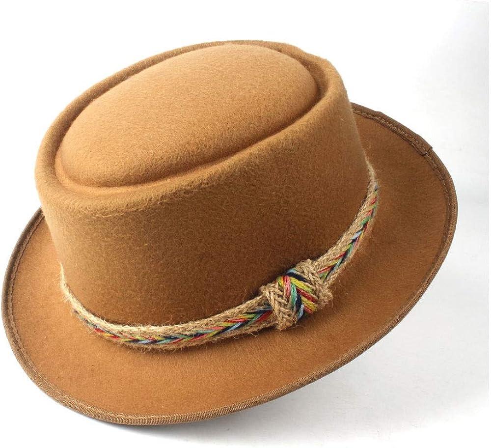 L.W.SUSL Men Women Pork Pie Hat Flat Trilby Fedora Hat Dance Party Hat for Lady Porkpie Church Fascinator Jazz Hat