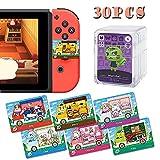 30 Tarjetas Compatibles Mini ACNH NFC Tag Para Switch / Switch Lite / Wii U / New 3DS, Con Estuche De Cristal