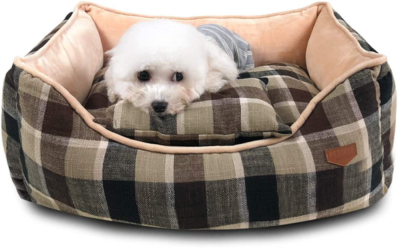 QJKai Pet nest Winter Plus Velvet Kennel Fully Removable and Washable Large Dog Kennel Four Seasons Universal