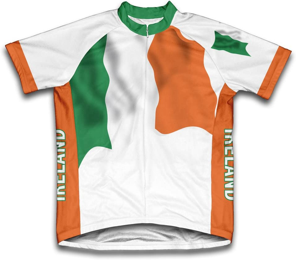 ScudoPro Ireland Flag Short Sleeve Jersey 67% OFF of fixed price New product! New type Cycling Men for