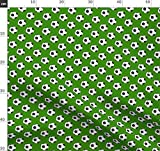 Sport, Bälle, Apfelgrün, Fußball, Schwarz, Weiß Stoffe - Individuell Bedruckt von Spoonflower - Design von Mtothefifthpower Gedruckt auf Baumwollstoff Klassik