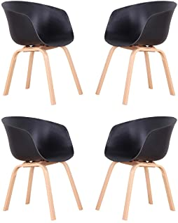 Chaises de Salle à Manger de Cuisine avec Bras Design Ergonomique chaises de Bureau à Domicile pour Salle à Manger Salon M...