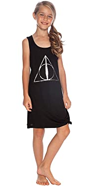 Harry Potter Girls' Big Deathly Hallows Hermione' Pajama Nightgown