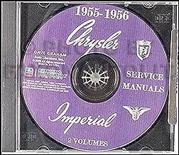 1955-1956 Chrysler Repair Shop Manuals CD-ROM Windsor New Yorker 300 Imperial