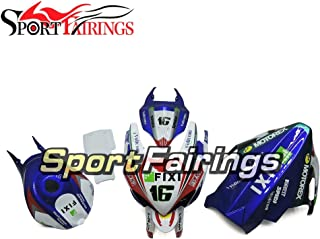 Sportbikefairings Fiberglass Racing Complete Motorcycle Fairings For Suzuki GSXR1000 gsxr-100 2007 2008 07 08 White Blue Red Injection Cowlings Body Kits