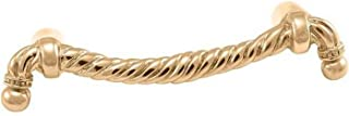 Vicenza Designs K1019 Equestre Rope Pull, 3-Inch, Polished Gold