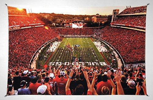 UGA Georgia Bulldogs: Photo Poster Tapestry Print - Saturday in Athens Sanford Stadium - XXL: 40'x60'