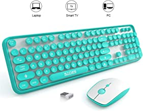SADES V2020 Wireless Keyboard and Mouse Combo,Keyboard with Round keycaps, 2.4GHz..