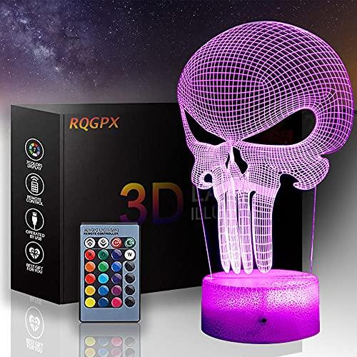 3D LED noche luz una lámpara de ilusión 16 colores juguetes para 8-12 años niños niñas 3D lámpara regalo de cumpleaños edad 7 8 9 10 niños