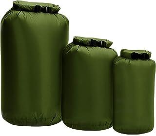 Dry Bag 3-Pack - 8L 40L 70L Boat Dry Sacks Waterproof Dry Bags Set Ultra Lightweight Waterproof Bags - Diamond Ripstop Rol...