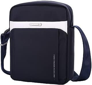 XSY Men Crossbody Messenger Women Anti-Theft Zipper & Buckle Sling Shoulder Bag 01-Blue