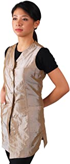 JMT Beauty Sleeveless Champagne Salon Smock (M (8))