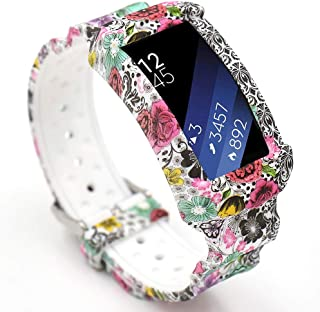 for Gear fit 2 Band, EL-move Adjustbable Wrist Replacement Band for Samsung Gear fit2 Smart Watch Fitness Strap Accessory (Flower)