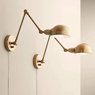 Somers Antique Brass LED Wall Lamp Set of 2-360 Lighting