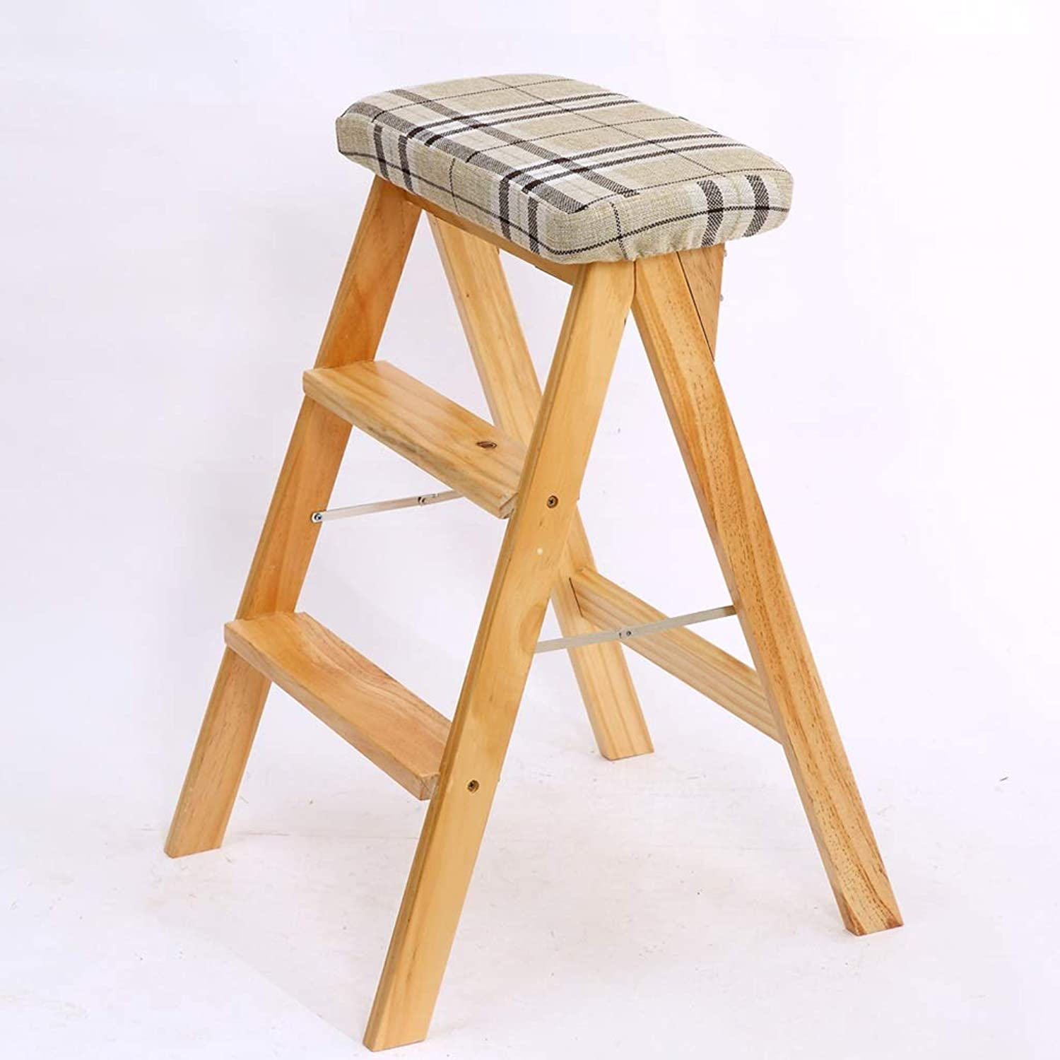 Step Stool, Solid Wood Creative Folding Stool, Simple Portable Household Ladder, (six Styles to Choose from) (color   C)
