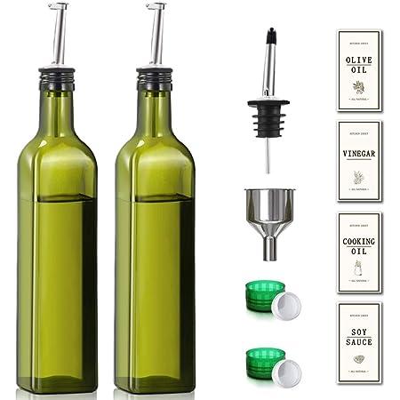 2 Pack Olive Oil Dispenser Bottle 17 oz