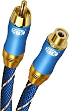 $21 » Sponsored Ad - RCA Extension Cable(16.4ft/5m) EMK RCA Male to Female Cable Gold Plated Copper Shell Heavy Duty Digital Coa...
