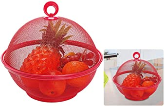 Fruit Basket Dain Cover Mesh Dining Table Decorations Apple Shape plate Storage Basket Storage Box Fruit Plate Washing Drain Basket Keep Flies /& Unwanted Insects Out