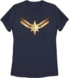 Marvel Women's Captain Marvel Star Symbol Costume T-Shirt