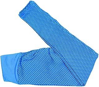Women Sweat Squat Proof Nylon Yoga Pants Scrunch Booty Seamless Jacquard Weave Workout Gym Tights Sport Capri Leggings
