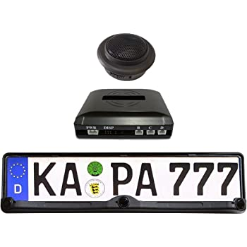 Keenso 12LED Pantalla de marcha atr/ás Sensor de estacionamiento European 2 sensores C/ámara Accesorio para coche Marco de matr/ícula