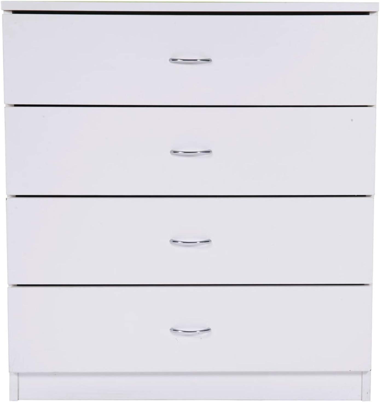 BRLUCKY Home NEW before selling ☆ Super Special SALE held HomeLiving MDF Wood - 4-Drawer Black Dresser Simple