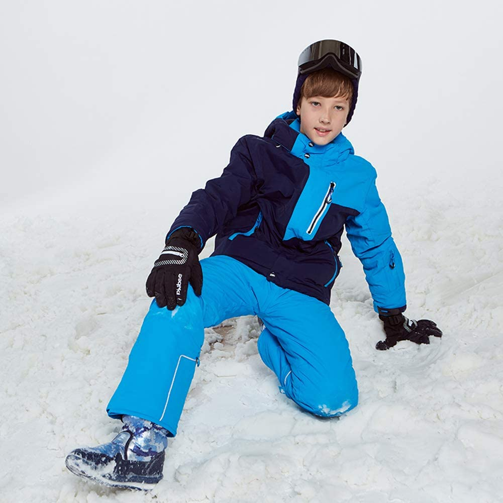 LPATTERN Children Kids Boys 2-Pieces Printed Ski Suit Snowsuit Snowboard /& Skiing Outfit Set Ski Jacket /& Ski Bib//Pants Set
